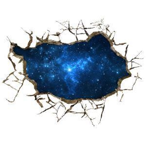 (EU Lager)3D Wandtattoo Blau Sternenhimmel PVC Fototapete