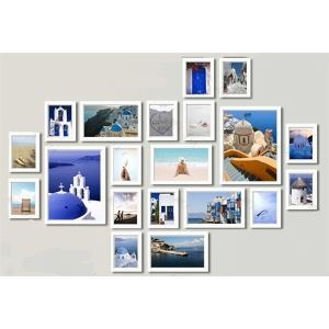 (EU Lager) Bilderrahmen Collage Fotogalerie-20er Set FZ-2020