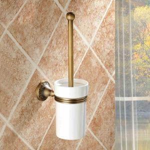 (EU Lager) WC Bürstenhalter Antik Messing Badzubehör