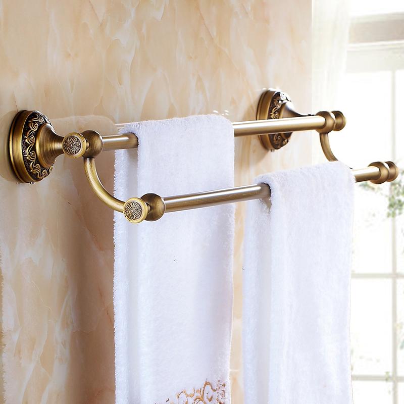 Handtuchhalter bad wandmontage antik messing bad for Bad accessoires messing