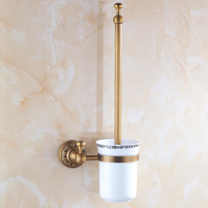 Toilettenbürstenhalter Antik Messing Badezimmer Garnitur mit großer ...