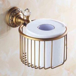 (EU Lager) Toilettenpapierhalter Antik Messing Bad-Accessoires
