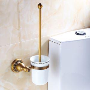 (EU Lager)WC Bürstenhalter Antik Messing Bad-Accessoires