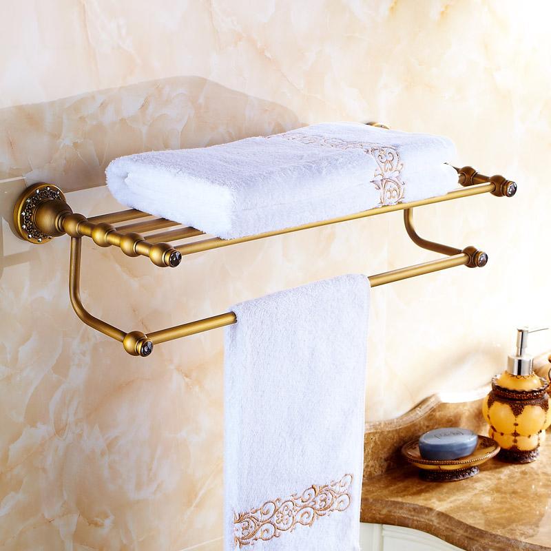 handtuchhalter wandmontage antik messing badzubeh r mit. Black Bedroom Furniture Sets. Home Design Ideas
