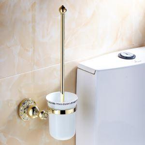 (EU Lager)WC Bürstenhalter Ti-PVD Kupfer Bad-Accessoires