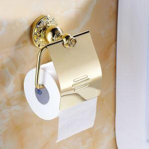 (EU Lager)Toilettenrollenhalter mit Deckel Ti-PVD God Badzubehör