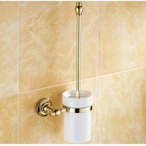 (EU Lager)WC Bürstenhalter Modern Ti-PVD Gold Kupfer Badezimmer Garnitur