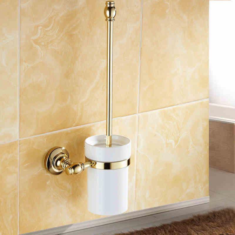 Wc b rstenhalter modern ti pvd gold kupfer badezimmer for Badezimmer garnitur