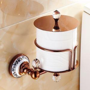 (EU Lager)Toilettenpapierrollenhalter Rosegold Kupfer Badzubehör