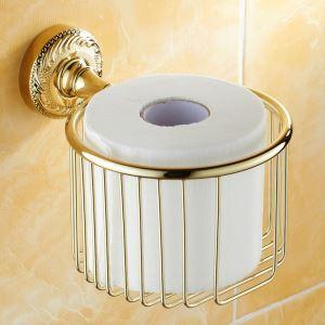 (EU Lager)WC Bürstenhalter Ti-PVD Gold Kupfer Modern Badzubehör