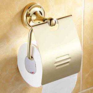 (EU Lager) WC Bürstenhalter Ti-PVD Gold Kupfer Modern Badzubehör