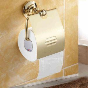 (EU Lager)WC Bürstenhalter Ti-PVD Gold Kupfer Modern Bad-Accessoires