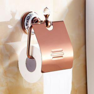 (EU Lager)WC Rollenhalter Rosegold Kupfer Badzubehör