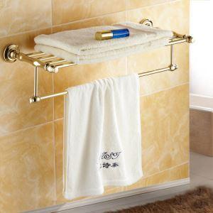 (EU Lager)Badetuchhalter Modern Ti-PVD Gold Kupfer Badzubehör