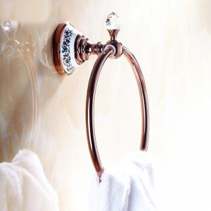 (EU Lager)Handtuchring Bad Rosegold Kupfer Wandmontage Bad-Accessoires