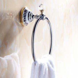 (EU Lager)Handtuchring Bad Modern Kupfer Galvanisiert Badzubehör