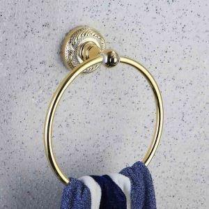 (EU Lager)Handtuchring Bad Modern Ti-PVD Gold Kupfer Badzubehör