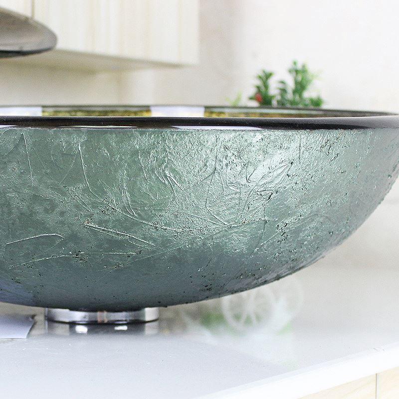 sch nes f r bad modern waschbecken gold rund glas aufsatz waschschale mit wasserfall wasserhahn. Black Bedroom Furniture Sets. Home Design Ideas