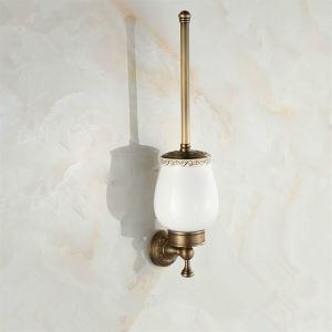 (EU Lager) WC Bürstenhalter Antik Messing Badezimmer Garnitur