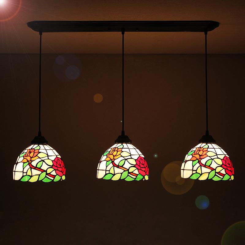 Günstig tiffany pendelleuchte rustikal antik stil glas