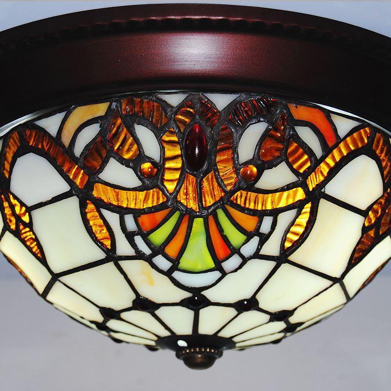 eu lager tiffany deckenleuchte antik landhaus stil glas lampenschirm 10 zoll. Black Bedroom Furniture Sets. Home Design Ideas