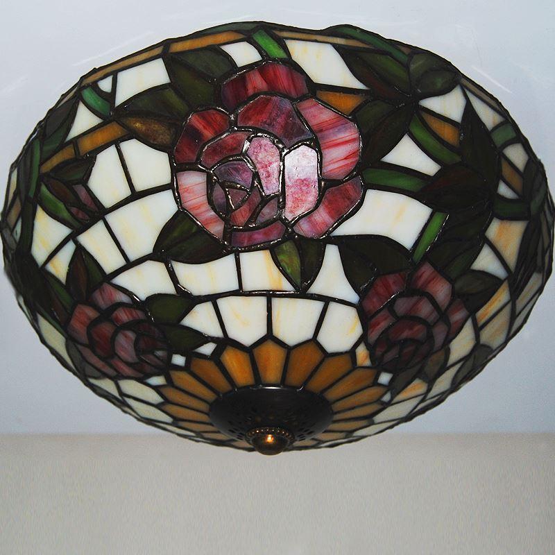 g nstig tiffany deckenleuchte antik landhaus stil rosa glas lampenschirm kaufen. Black Bedroom Furniture Sets. Home Design Ideas