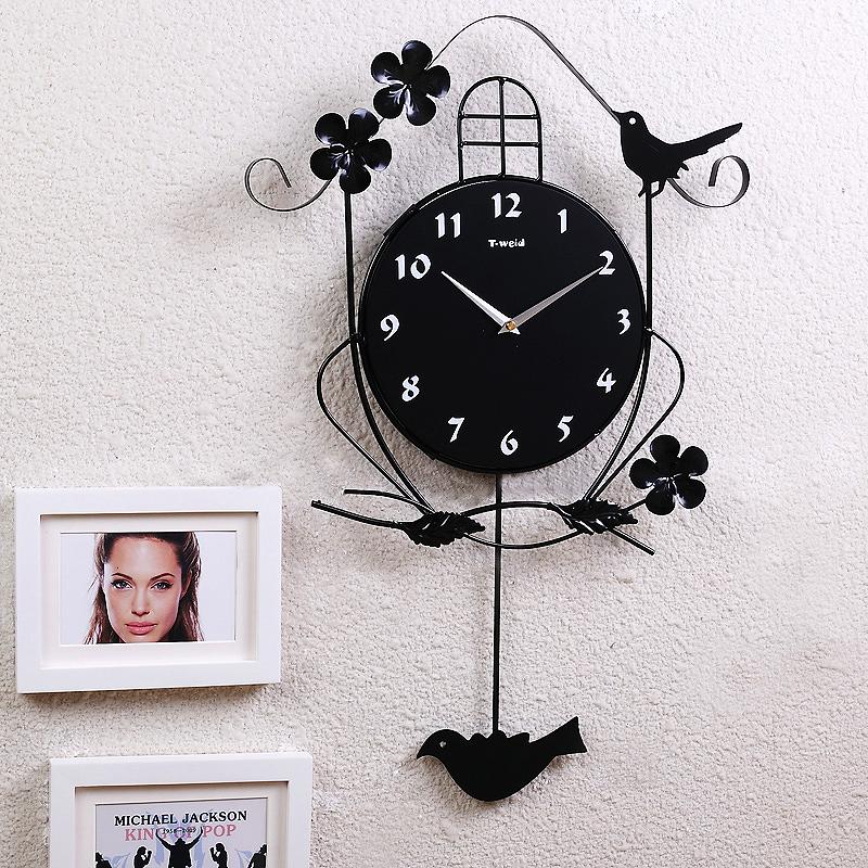 vogel wanduhr modern design digital eisen lautlos. Black Bedroom Furniture Sets. Home Design Ideas
