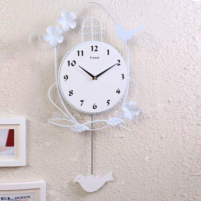 Hausdeko   Deko Uhr   Kreative Wanduhren   (EU Lager)Vogel Wanduhr Modern  Design Digital Eisen Lautlos