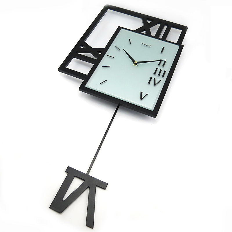 Hausdeko   Deko Uhr   Moderne Wanduhren   (EU Lager)Wanduhr Modern  Pendeluhr Design Lautlos Schwarz