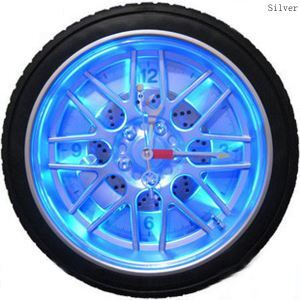 (EU Lager)Wanduhr Modern Design LED Reifen Lautlos