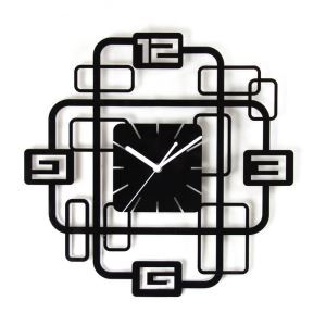 (EU Lager)Wanduhr Modern Design Acryl Nummer Lautlos