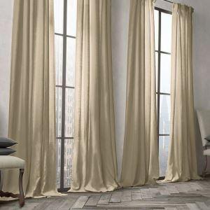 Vorhang Khaki Uni Leinen Baumwolle ( 1 Stück )