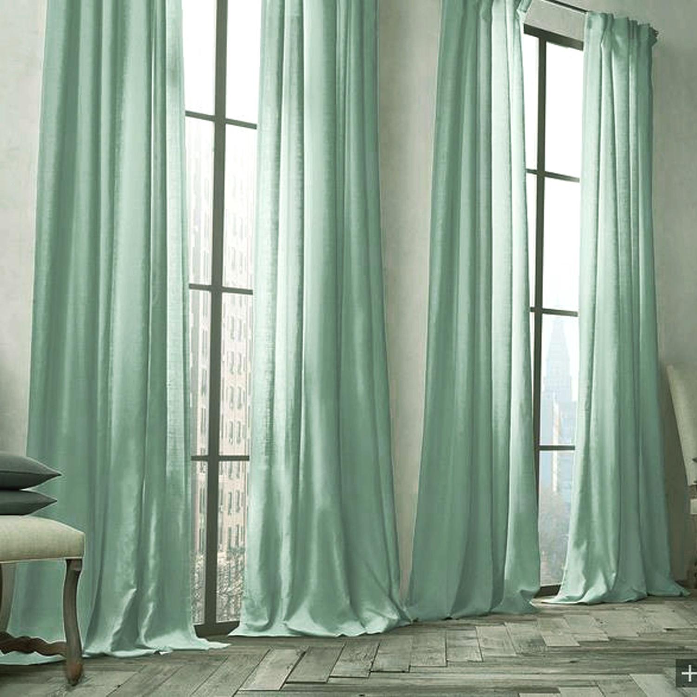vorh nge verdunkelung gardinen vorhang gr n uni leinen. Black Bedroom Furniture Sets. Home Design Ideas