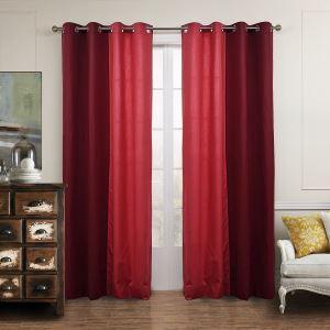Vorhang Rot Baumwolle Leinen ( 1 Stück )