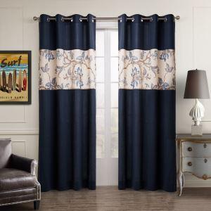 Vorhang Blau Baumwolle Leinen ( 1 Stück )