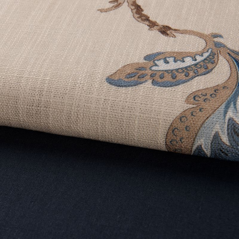 vorh nge verdunkelung gardinen vorhang blau baumwolle leinen 1 st ck. Black Bedroom Furniture Sets. Home Design Ideas