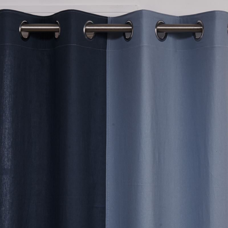 vorh nge halbtransparente gardinen vorhang blau baumwolle leinen 1 st ck. Black Bedroom Furniture Sets. Home Design Ideas