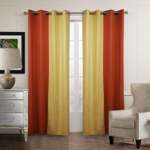 Vorhang Gelb Orange Baumwolle Leinen ( 1 Stück )