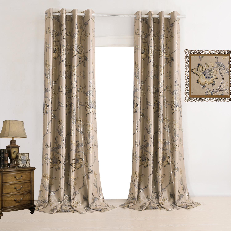 vorh nge verdunkelung gardinen vorhang kaffee bedruckt polyester 1 st ck. Black Bedroom Furniture Sets. Home Design Ideas