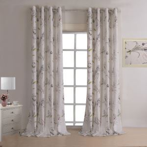 Vorhang Beige Bedruckt Polyester ( 1 Stück )