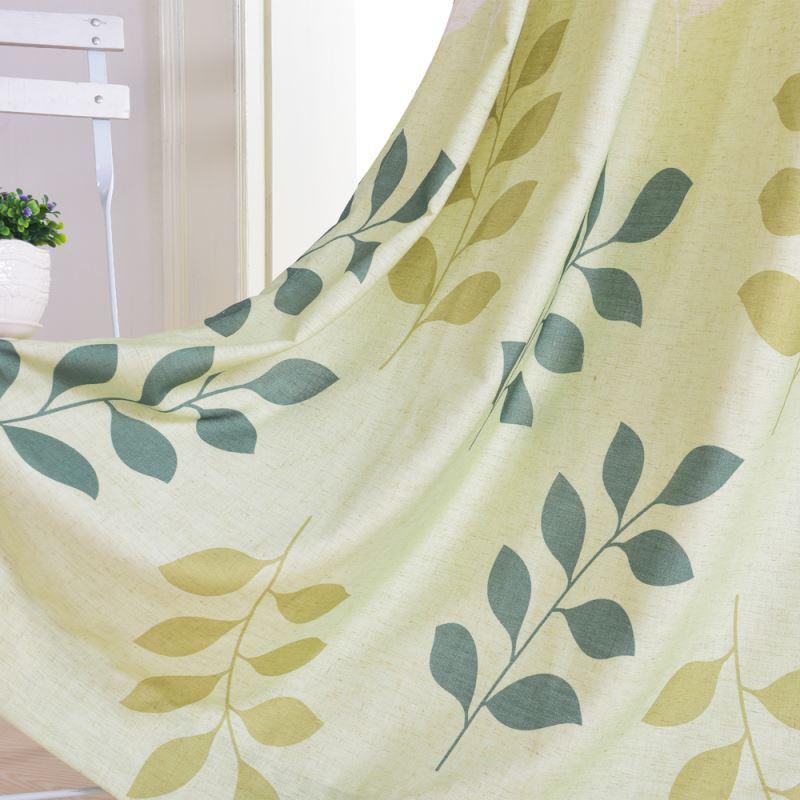 vorh nge verdunkelung gardinen vorhang gr n bedruckt. Black Bedroom Furniture Sets. Home Design Ideas
