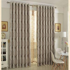 Vorhang Beige Jacquard Polyester ( 1 Stück )