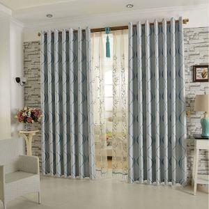 Vorhang Blau Jacquard Polyester ( 1 Stück )
