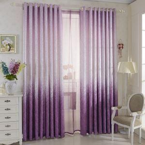 Vorhang Lila Pink Jacquard Polyester Baumwolle ( 1 Stück )