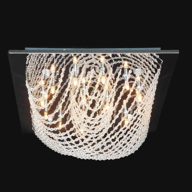 ausverkauft eu lager modern deckenleuchte kristall chrom 15 flammig eckig. Black Bedroom Furniture Sets. Home Design Ideas