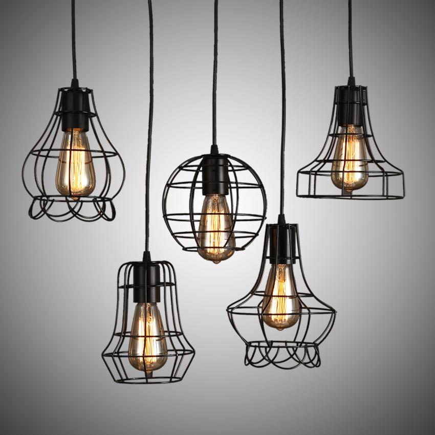 beleuchtung pendelleuchten eu lager h ngeleuchte landhaus eisen malerei 1 flammig schwarz. Black Bedroom Furniture Sets. Home Design Ideas