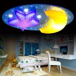 (EU Lager)LED Deckenleuchte Modern Acryl Malerei 7-flammig