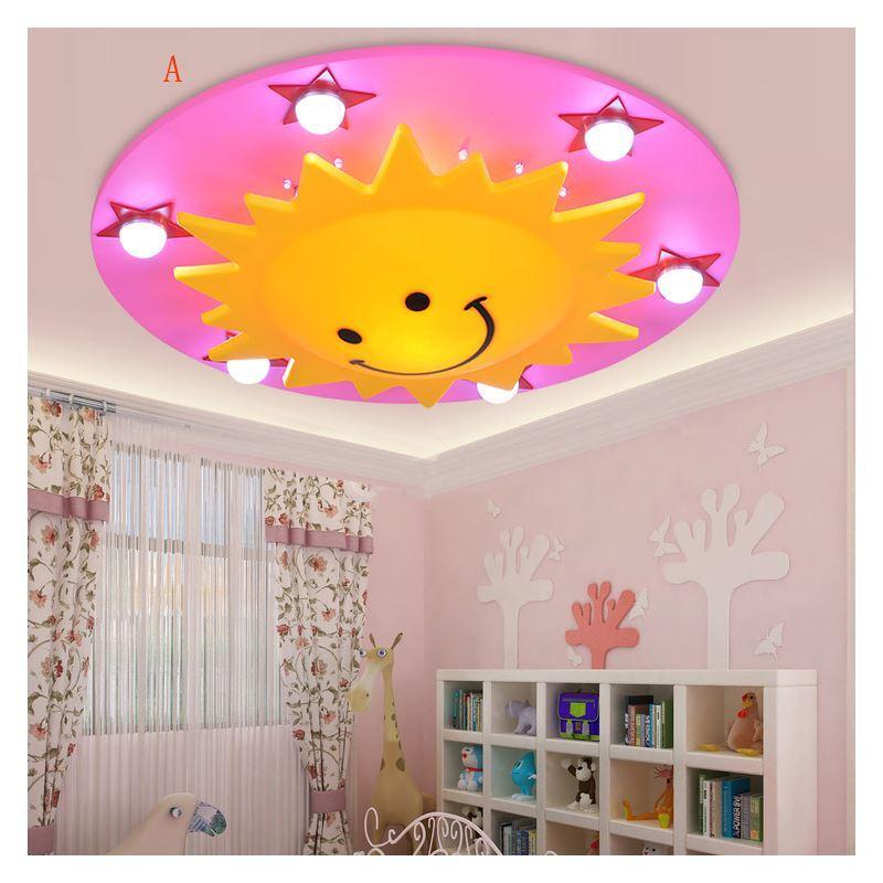 beleuchtung deckenleuchten eu lager led deckenleuchte kinderzimmer sonne sterne. Black Bedroom Furniture Sets. Home Design Ideas