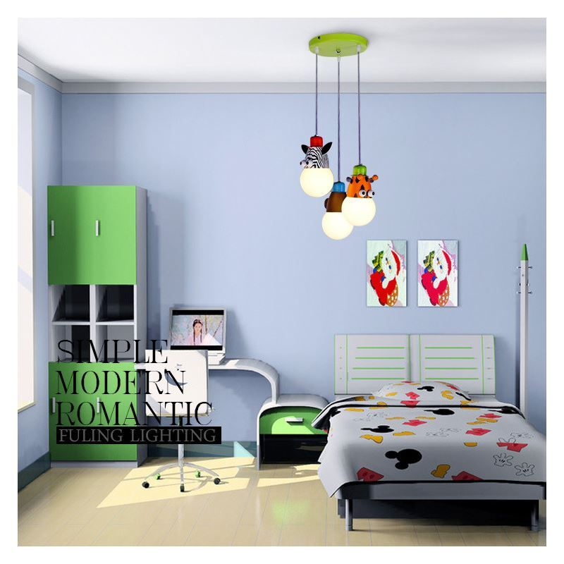 beleuchtung pendelleuchten eu lager led pendelleuchte kinderzimmer tier 3 flammig. Black Bedroom Furniture Sets. Home Design Ideas