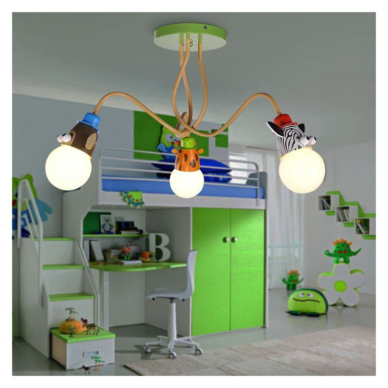 beleuchtung wohnr ume kinderzimmerleuchten eu lager deckenleuchte kinderzimmer tier 3 flammig. Black Bedroom Furniture Sets. Home Design Ideas